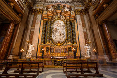 Interior of The Church of St. Ignatius of Loyola. Stock Images