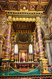 Interior of the church of St. Mary Major, Santa Maria Maggiore is full of works of art Royalty Free Stock Images