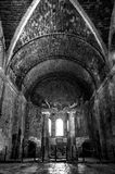 Interior of the Church of St. Nicholas in Demre, Turkey. Black and white photo. Without people Stock Photo