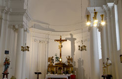 Interior of the church of St. Nicholas in Old Town Square , Prague, Czech Republic Royalty Free Stock Photos