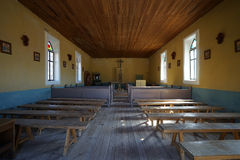 The interior of the church in terlingua ghost town in texas. Church interior in terlingua mining ghost town in texas usa Royalty Free Stock Photography
