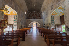 Interior of the Church in Uayma mayan town, Yucatan, Mexico Stock Photography