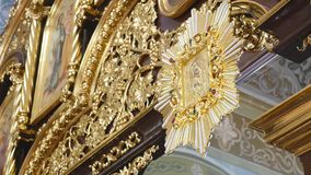 Interior of the church in Ukraine stock video footage