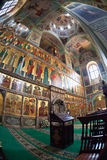 Interior of church in Valday monastery, Russia Stock Photos