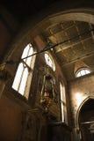 Interior of church in Venice, Italy. Stock Photo