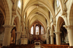 The interior of the church of Vigny in Val d Oise Stock Photo