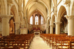 The interior of the church of Vigny in Val d Oise Stock Image