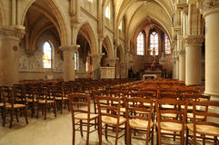 The interior of the church of Vigny in Val d Oise Royalty Free Stock Photos