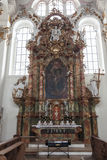The interior of the Church Wieskirche Royalty Free Stock Photos