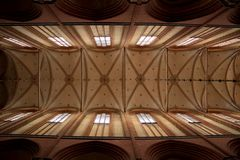 Interior of a church in Wismar Stock Images