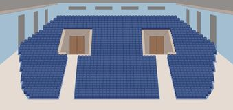 Interior of cinema hall plan  Royalty Free Stock Photography