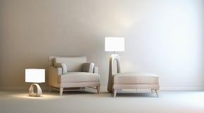 Interior cinzento ilustração royalty free