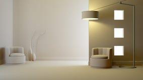 Interior cinzento Imagens de Stock