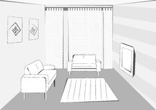 Interior cinzento do vetor Imagem de Stock