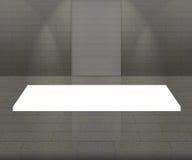 Interior cinzento vazio com luz de 3 pontos. Fotografia de Stock