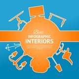 Interior circle infographics. Royalty Free Stock Photo