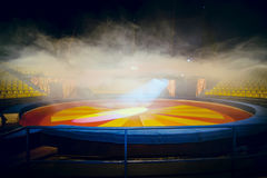 Interior of circus with fog effect Stock Photography
