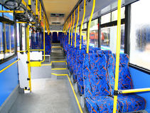 Interior of a city bus Royalty Free Stock Image