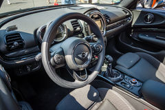 Interior of a city car Mini Cooper S Convertible. Royalty Free Stock Images