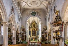 Interior of City church in Baden - Switzerland. Interior of City church in Baden in Switzerland royalty free stock image