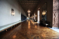 Interior of city hall in Stockholm Royalty Free Stock Images