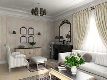 Interior clásico. stock de ilustración