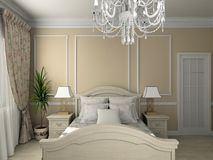 Interior clásico. 3D rinden Fotografía de archivo