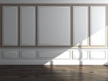 Interior clásico con hora solar Foto de archivo