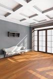Interior clásico de la sala de estar Fotografía de archivo