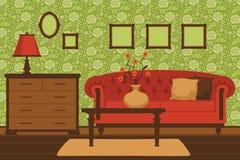 Interior clásico de la sala de estar Imagenes de archivo
