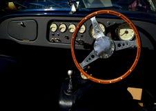 Interior clásico del automóvil de Morgan fotografía de archivo libre de regalías