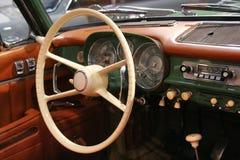 Interior clásico del coche Imágenes de archivo libres de regalías