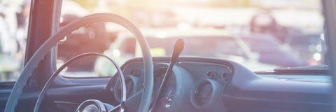 Interior clásico del coche foto de archivo libre de regalías