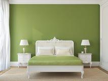 Interior clásico del dormitorio. ilustración del vector