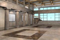 Interior clásico del museo Fotografía de archivo