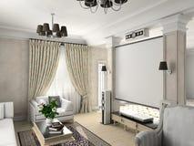 Interior clássico. Fotos de Stock Royalty Free