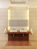 Interior clássico do banheiro do estilo Imagens de Stock