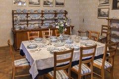 Interior clássico no estilo de Biedermeier Fotos de Stock