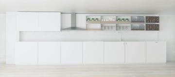 Interior claro criativo da cozinha Foto de Stock