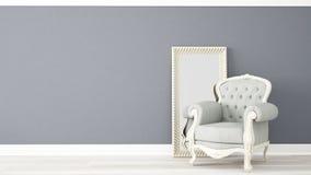 Interior claro moderno Imagem de Stock Royalty Free