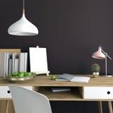 Interior claro moderno, um lugar para o estudo, consistindo no trabalho Imagens de Stock