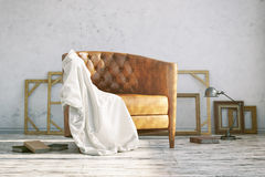 Interior of classic armchair Royalty Free Stock Photography