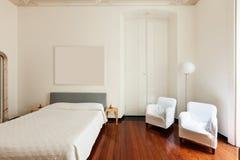 Interior, classic bedroom Royalty Free Stock Photo