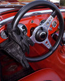 Interior of a classic cabriolet car Royalty Free Stock Photography
