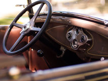 Interior of classic car Royalty Free Stock Images