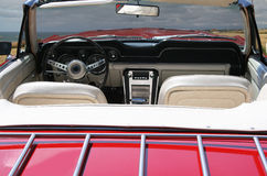 Interior of a classic convertible. Royalty Free Stock Photography