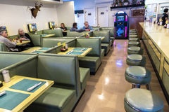 Interior of classic Diner, Virginia October 26, 2016 Stock Photography