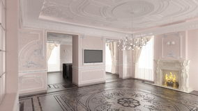 Interior of classic home Royalty Free Stock Image