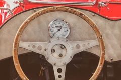 Interior of a classic kit car convertible Stock Images