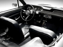 Interior of the classic sports car Royalty Free Stock Photo